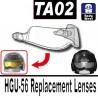 Lego Accessoires Minifig Si-Dan Toys TA02 (visière pour casque HGU-56) (Trans-Clear) (La Petite Brique)