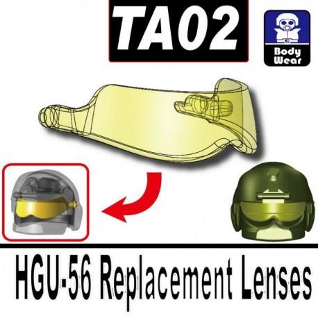 Lego Accessoires Minifig Si-Dan Toys TA02 (visière pour casque HGU-56) (Noir) (La Petite Brique)