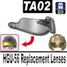 Lego Accessoires Minifig Si-Dan Toys TA02 (visière pour casque HGU-56) (Trans-Black) (La Petite Brique)