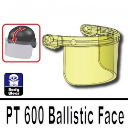 Lego Accessoires Minifig Si-Dan Toys PT 600 (visière pour casque 2002K) (Trans-Yellow) (La Petite Brique)