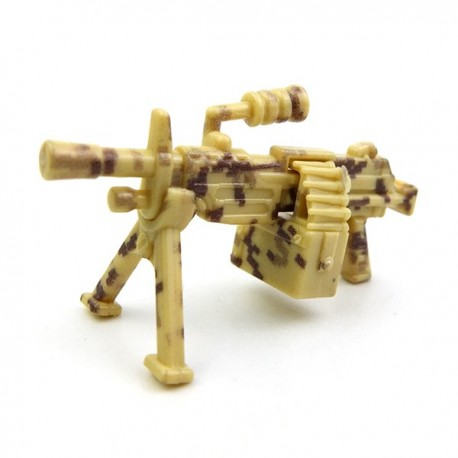 Lego Custom Si-Dan Toys M249 (Mini-mitrailleuse) (Desert digital camouflage) (La Petite Brique)