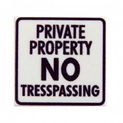 Lego Custom Minifig eclipseGRAFX Private Property - No Tresspassing (Tile 2x2 - Blanc) (La Petite Brique)