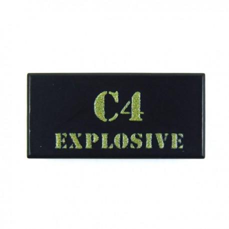 Lego Custom Minifig eclipseGRAFX C4 Explosive (Tile 1x2 - Noir) (La Petite Brique)