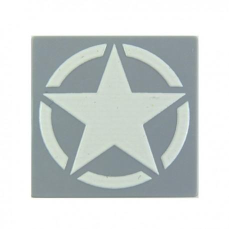 Lego Custom Minifig eclipseGRAFX Etoile Militaire WWII (Tile 2x2 - LBG) (La Petite Brique)