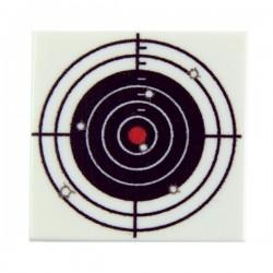 Lego Custom Minifig eclipseGRAFX Cible de tir avec trous (Tile 2x2 - Blanc) (La Petite Brique)
