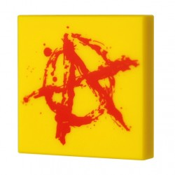 Lego Accessoires Minifig CUSTOM BRICKS Tag Anarchie (Tile 2x2 - Jaune) (La Petite Brique)