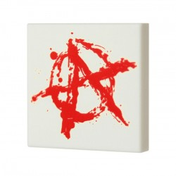 Anarchy Graffiti (Tile 2x2 - White)
