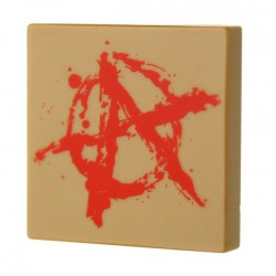 Anarchy Graffiti (Tile 2x2 - Dark Tan)