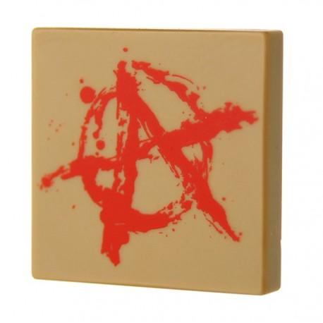 Anarchy Graffiti (Tile 2x2 - Dark Tan)