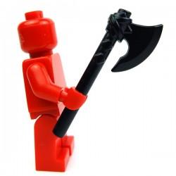 Lego Accessoires Minifig Custom BRICK WARRIORS Hache Vicking (Noir) (La Petite Brique)