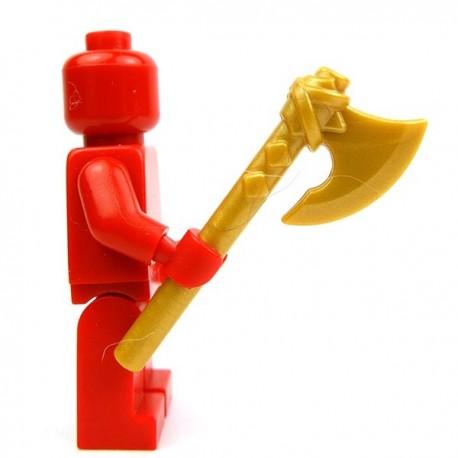 Lego Accessoires Minifig Custom BRICK WARRIORS Hache Vicking (Pearl Gold) (La Petite Brique)