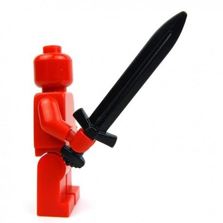 Lego Accessoires Minifig Custom BRICK WARRIORS Épée longue Vicking (Noir) (La Petite Brique)