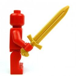 Lego Accessoires Minifig Custom BRICK WARRIORS Épée longue Vicking (Pearl Gold) (La Petite Brique)