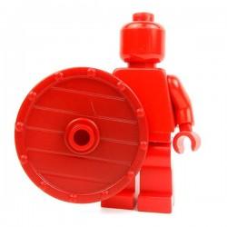 Lego Accessoires Minifig Custom BRICK WARRIORS Bouclier Vicking (Rouge foncé) (La Petite Brique)