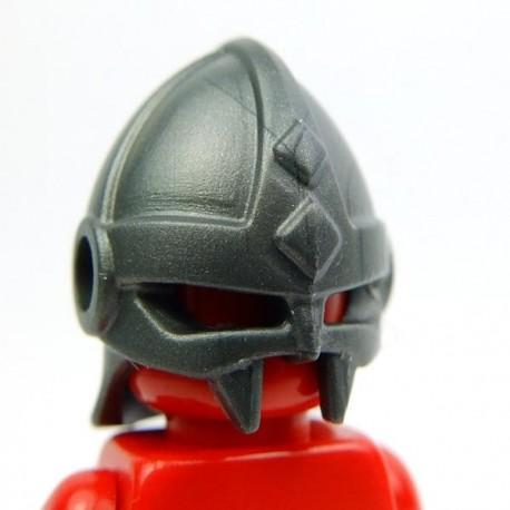 Lego Accessoires Minifig Custom BRICK WARRIORS Casque Vicking (Steel) (La Petite Brique)