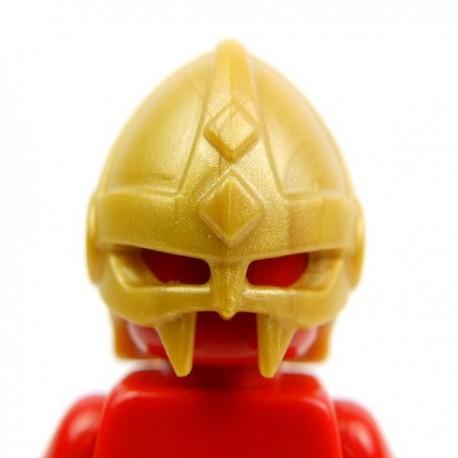 Lego Accessoires Minifig Custom BRICK WARRIORS Casque Vicking (Pearl Gold) (La Petite Brique)