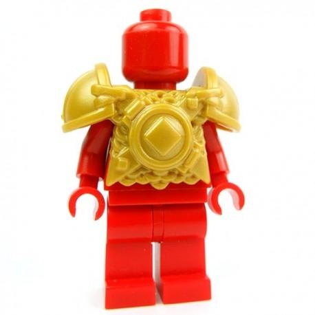 Lego Accessoires Minifig Custom BRICK WARRIORS Armure Vicking (Pearl Gold) (La Petite Brique)