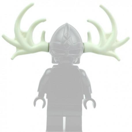 Lego Accessoires Minifig Custom BRICK WARRIORS Bois d'Orignal / Elan (Blanc) (La Petite Brique)