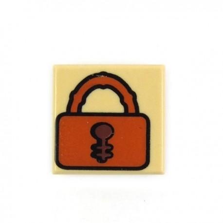 Lego Accessoires Minifig Tile 1x1, Cadenas (Beige) (La Petite Brique)