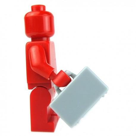 Lego Accessoires Minifig Valise (Light Bluish Gray) (La Petite Brique)