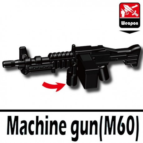 Lego Accessoires Minifig Si-Dan Toys Machine gun M60 (noir) (La Petite Brique)