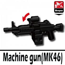 Lego Accessoires Minifig Si-Dan Toys Machine gun MK46 (noir) (La Petite Brique)
