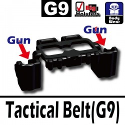 Lego Accessoires Minifig Si-Dan Toys Ceinture Tactical G9 (noir) (La Petite Brique)