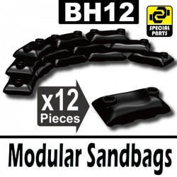 Lego Accessoires Minifig Si-Dan Toys 12 Sacs de sable (noir) (La Petite Brique)