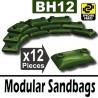 12 Modular Sandbags (Military Green)