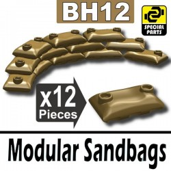 12 Modular Sandbags (Dark Tan)