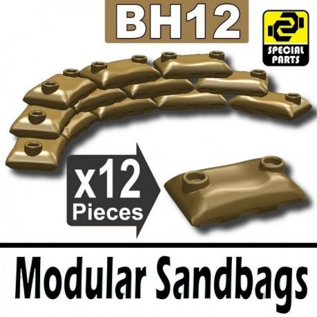 Lego Accessoires Minifig Si-Dan Toys 12 Sacs de sable (Beige foncé) (La Petite Brique)