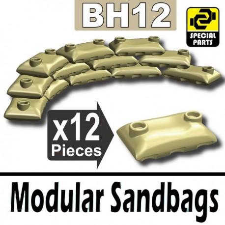 12 Modular Sandbags (Tan)