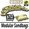 Lego Accessoires Minifig Si-Dan Toys 12 Sacs de sable (Beige) (La Petite Brique)