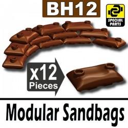 Lego Accessoires Minifig Si-Dan Toys 12 Sacs de sable (Marron) (La Petite Brique)