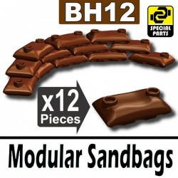 12 Modular Sandbags (Brown)