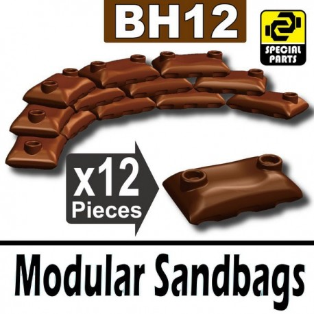 12 Modular Sandbags (Brown)