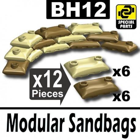 Lego Accessoires Minifig Si-Dan Toys 12 Sacs de sable (6 Beige foncé, 6 Beige) (La Petite Brique)