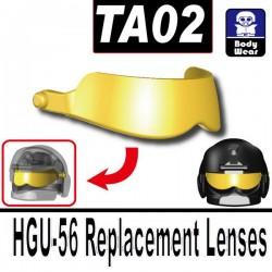 Lego Accessoires Minifig Si-Dan Toys TA02 (visière pour casque HGU-56) (Gold) (La Petite Brique)