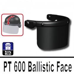 PT 600 Ballistic Face (for 2002K Helmet) (Black)