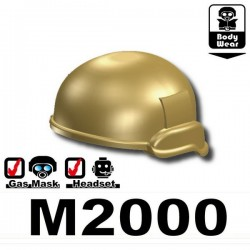 Lego Accessoires Minifig Si-Dan Toys Casque M2000 (Beige foncé) (La Petite Brique)
