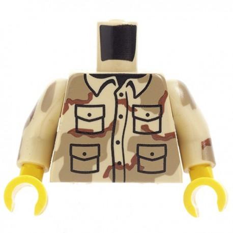 Lego Custom Minifig CITIZEN BRICK Torse minifig - Tricolor (La Petite Brique)