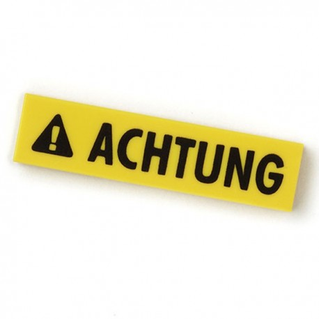 Achtung - Tile, 4x1 (Yellow)