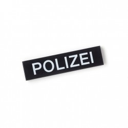 Polizei - Tile 1x4 (Black)