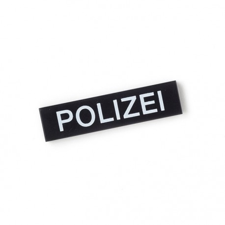 Lego Custom Minifig CITIZEN BRICK Polizei - Tile 1x4 (Noir) (La Petite Brique)