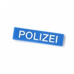 Polizei - Tile 1x4 (Blue)