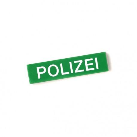 Lego Custom Minifig CITIZEN BRICK Polizei - Tile 1x4 (Vert) (La Petite Brique)