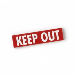 Keep Out - Tile 1x4 (Red)