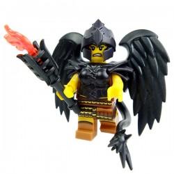 Lego Accessoires Minifig Custom BRICK WARRIORS Ailes d'Oiseau (noir) (La Petite Brique)