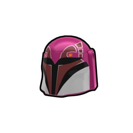 Lego Minifig Custom AREALIGHT Magenta Rebel Hunter Helmet (La Petite Brique) Star Wars