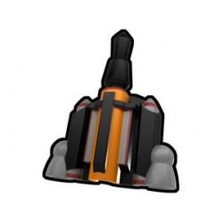 Lego Minifig Custom AREALIGHT Black Boba Jetpack (La Petite Brique) Star Wars